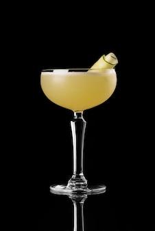 Cocktail black background menu layout restaurant bar vodka whiskey orange yellow cucumber