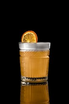 Cocktail black background menu layout restaurant bar vodka wiskey orange lemon whiskey dri