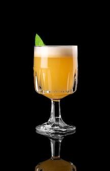 Cocktail on black background menu layout restaurant bar vodka wiskey tonic orange caribbea