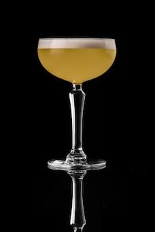 Cocktail black background menu layout restaurant bar vodka wiskey tonic orange yellow