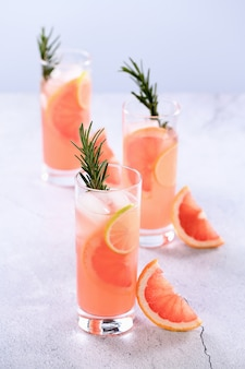 Cocktail of fresh pink paloma