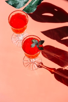 Cocktail in a glass