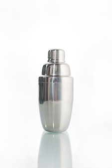 Cocktail shaker on isolated white background