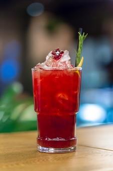 Cocktail on the table bar, restaurant
