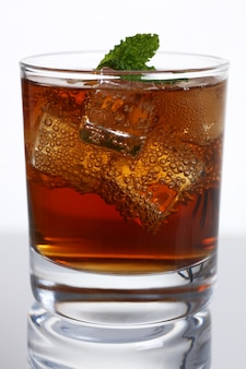 Cocktail whiskey cola with ice