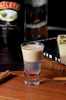 Cocktail with baileys irish cream liqueur