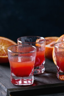 Cocktail with blood oranges