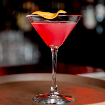 Cocktail with orange zest