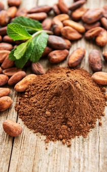 Cocoa powder and beans