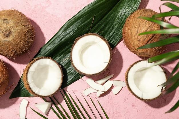 코코넛, 야 자 잎 핑크, 평면도
