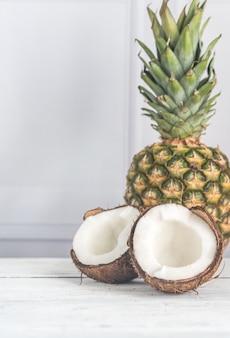 ココナッツとパイナップル