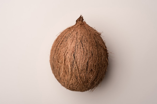 Coconut fruit isolated over white