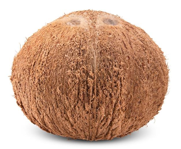 白いクリッピングパスに分離されたココナッツ