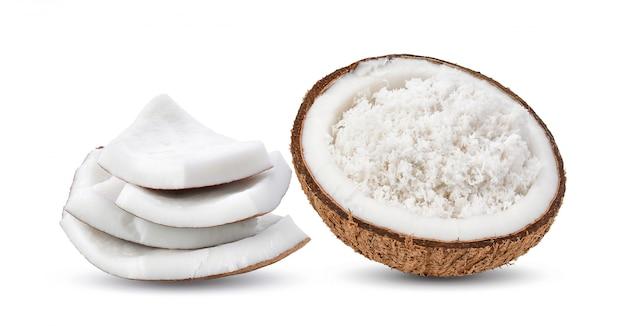 코코넛 흰색 절연