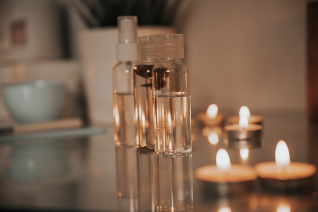 Coconut massage oil for spa treatments