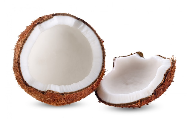 Coconut milk isolated on white clipping path