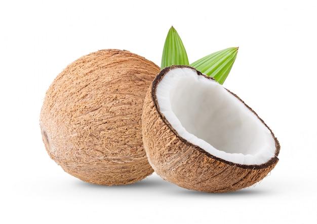 白い壁にココナッツ。