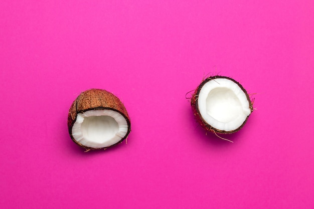 Coconut, parted into two pieces
