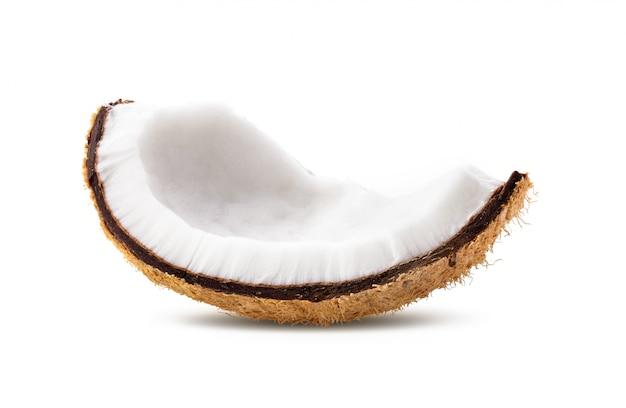 分離されたココナッツピース
