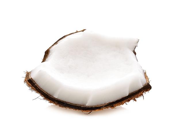 흰색 바탕에 코코넛 슬라이스