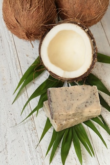 Coconut soap.soap with coconut extract