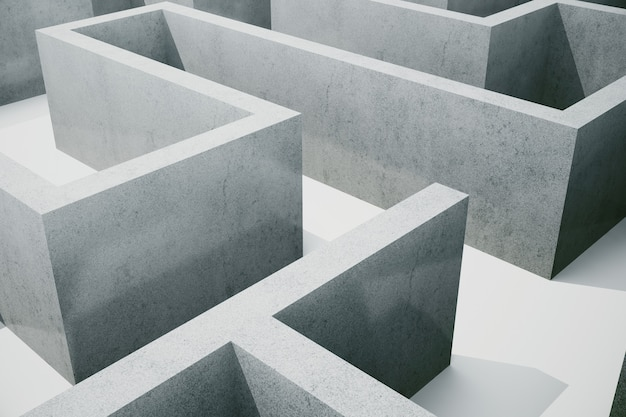 図cocrete迷路、複雑な問題解決の概念