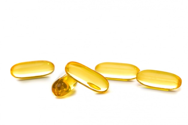 Cod liver oil omega 3 capsules isolated
