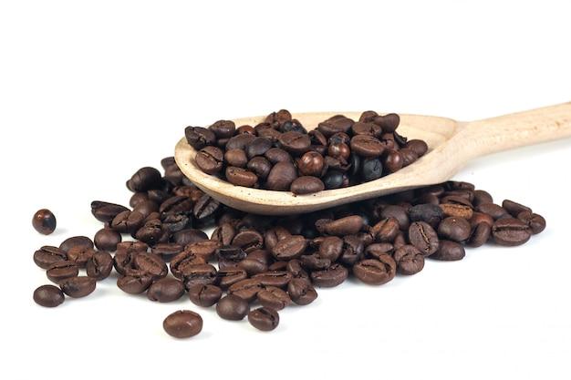 Cofee beans on white