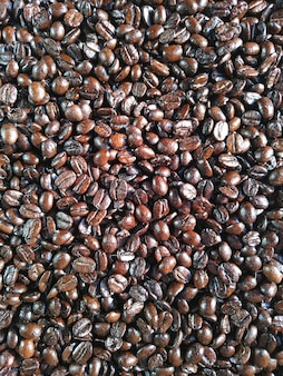 Coffe beans background texture