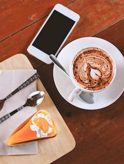 Кофе и торт мягкий фильтр.