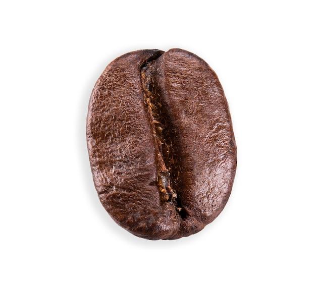 白いクリッピングパスで分離されたコーヒー豆