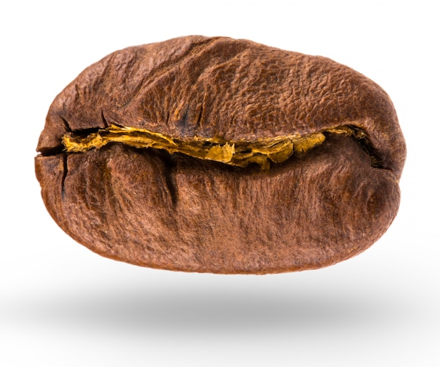 Coffee bean isolated on white background with clipping path