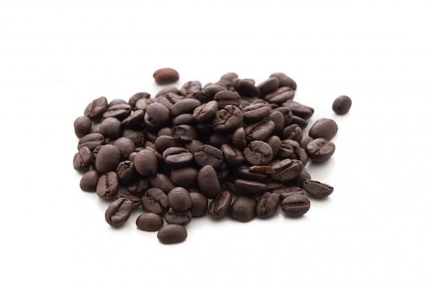 Coffee bean on isolated white