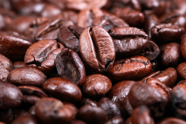 Coffee bean macro. coffee is very popular with people