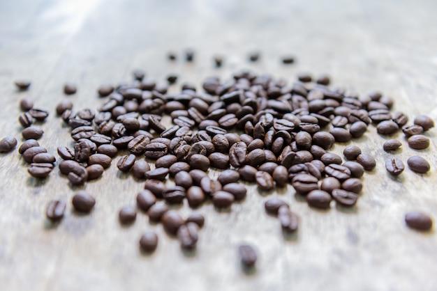Coffee bean on old wood