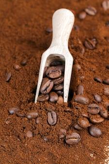 커피 콩 가루