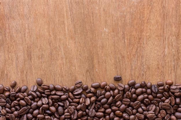 Coffee bean on wood