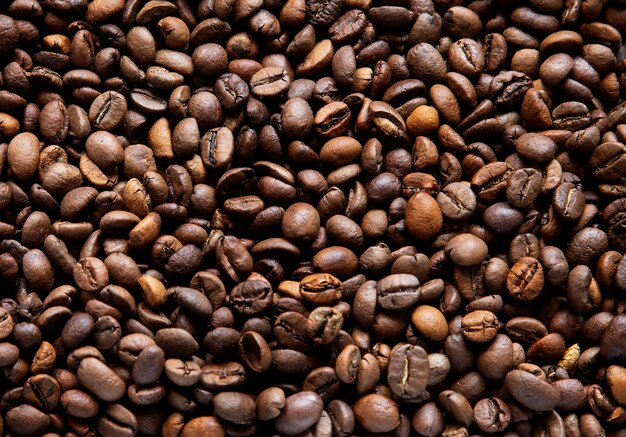 Coffee beans background and texture