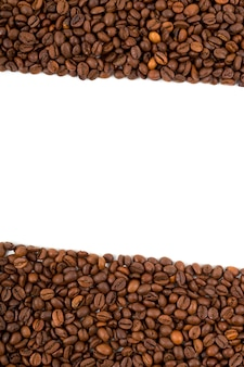 Coffee beans a background