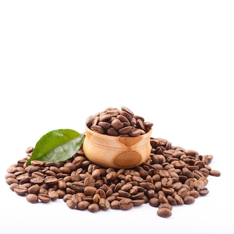 커피 콩을 닫습니다.