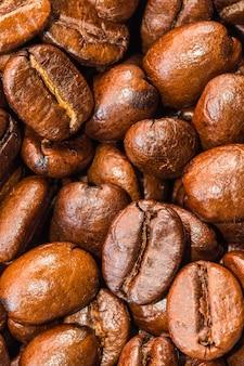 Coffee beans closeup.