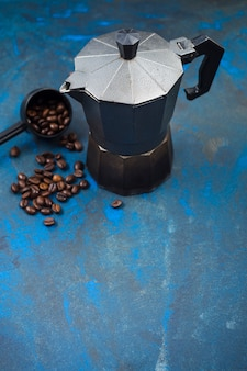 Coffee beans and coffee maker