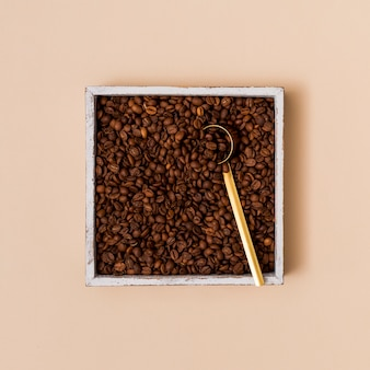Coffee beans in a container