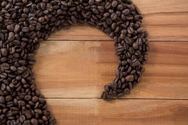 모양을 형성하는 커피 콩