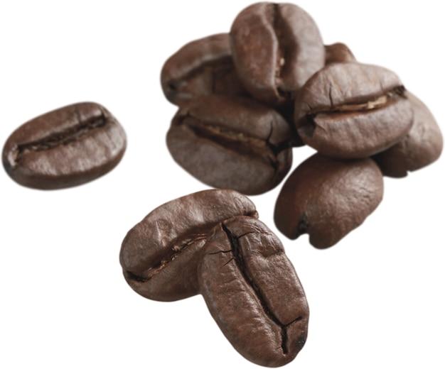 コーヒー豆-孤立した画像