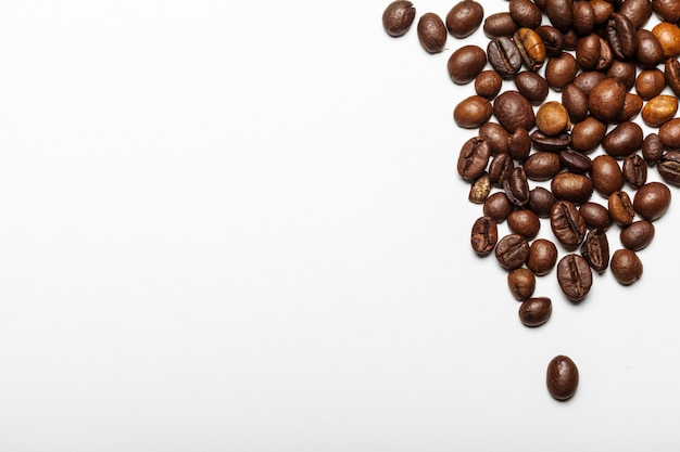 Coffee beans. isolated on a white background