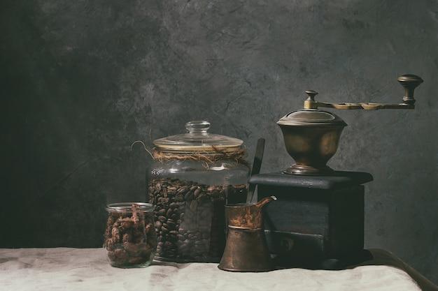 Coffee beans in jar