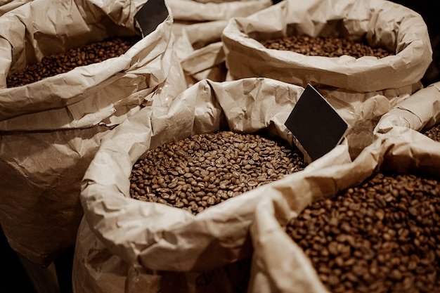 Кофе в зернах в пакетиках