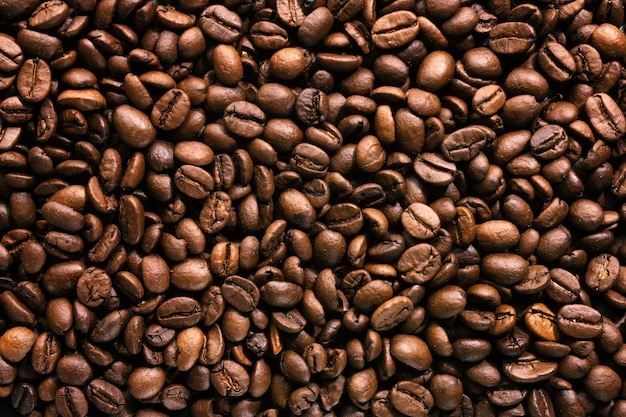 Coffee beans. top view. coffee concept.