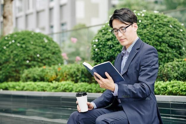 Coffee break with good book